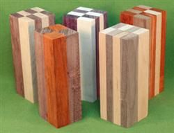 "Blank #738 - Segemented Blanks - 5 Each Assorted ~ 1 3/4"" x 1 3/4"" x 5 1/2"" ~ $24.99"